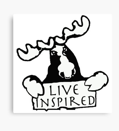 Moose inspiration Canvas Print