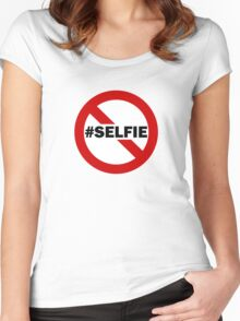 No Selfie Zone Women's Fitted Scoop T-Shirt