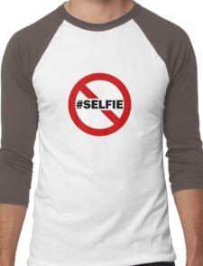 No Selfie Zone Men's Baseball ¾ T-Shirt