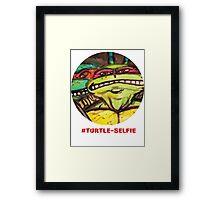 "#Turtleselfie ""Smile Raph"" Framed Print"