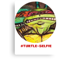 "#Turtleselfie ""Smile Raph"" Canvas Print"
