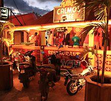 Caribbean Island Street Scene in Grand Case St. Martin by Roupen  Baker