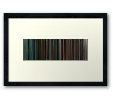 Moviebarcode: The complete Twilight Saga (2008-2012) Framed Print
