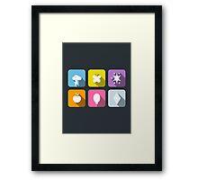 My Little Pony - Mane Six Flat Icons 2.0 Framed Print