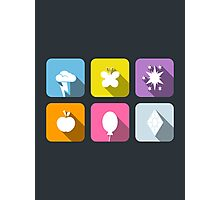 My Little Pony - Mane Six Flat Icons 2.0 Photographic Print