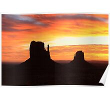 Monument Valley at Sunrise Poster