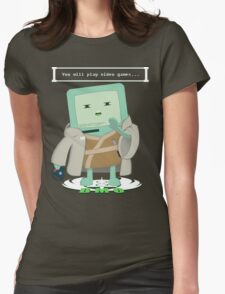 Jedi Mo: You will play video games... Womens Fitted T-Shirt