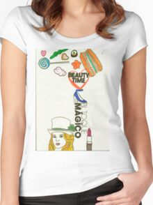 sweet girl Women's Fitted Scoop T-Shirt