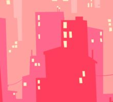 Pink Twilight Cityscape Sticker
