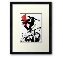 Skateboard Grind Framed Print