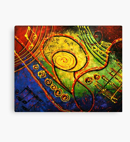 Sounds of Music Canvas Print