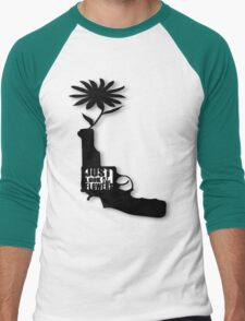 Just Look At The Flowers Men's Baseball ¾ T-Shirt