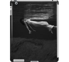 Black and White Woman in the Water Photograph iPad Case/Skin