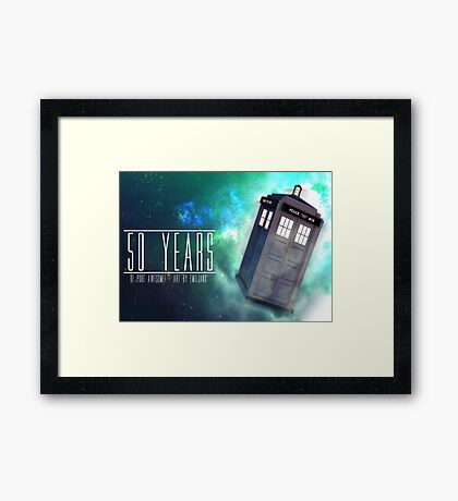 Those 50 Years - Doctor Who Framed Print