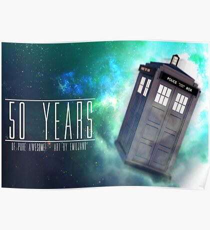 Those 50 Years - Doctor Who Poster
