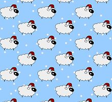 Christmas sheep by CraftCartwright