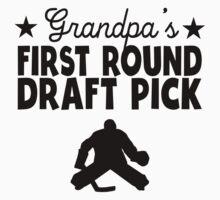 Grandpa's First Round Draft Pick Hockey Kids Clothes