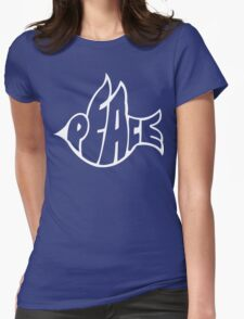 Peace Dove Womens Fitted T-Shirt
