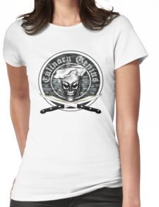 Skull Chef: Culinary Genius Womens Fitted T-Shirt