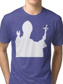 Pope Silhouette Tri-blend T-Shirt