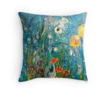 The Galaxy Sea Throw Pillow