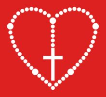 Rosary Cross Heart by christianity