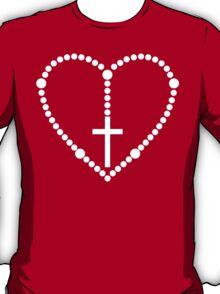 Rosary Cross Heart T-Shirt