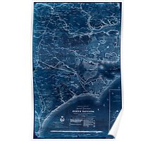 Civil War Maps 0354 Eastern portion of the Military Department of North Carolina 02 Inverted Poster