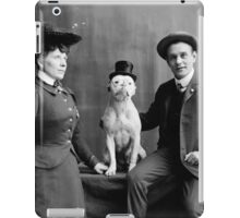 Vintage Black and White Photograph Dog Wearing Hat iPad Case/Skin
