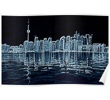 Toronto Skyline in Blue Poster