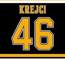 Boston Bruins David Krejci Jersey Back Phone Case by Russ Jericho