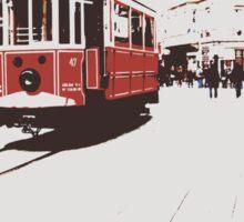 tram in Beyoglu Sticker