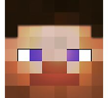 Minecraft Steve Head Corner Photographic Print