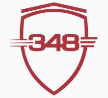 Ferrari 348 / Red / Large Shield by Ferraridude