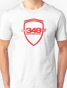 Ferrari 348 Brotherhood / Red / Large Shield Unisex T-Shirt