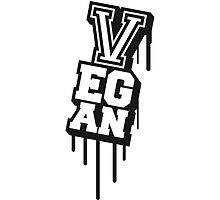 Vegan Stempel Graffiti Design by Style-O-Mat