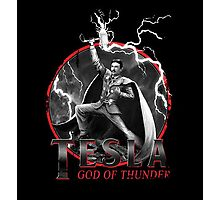Tesla God Of Thunder Photographic Print