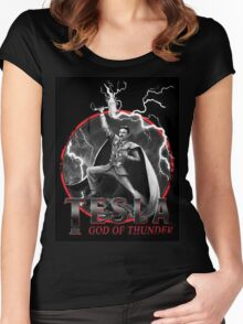 Tesla God Of Thunder Women's Fitted Scoop T-Shirt