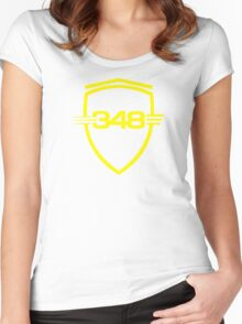 Ferrari 348 / Large Shield / Yellow Women's Fitted Scoop T-Shirt