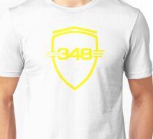 Ferrari 348 / Large Shield / Yellow Unisex T-Shirt