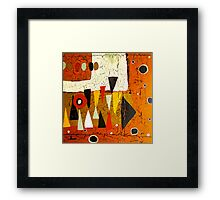 1974 Abstract Framed Print