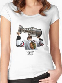 Captain Clutch with The Cup (Toews) Women's Fitted Scoop T-Shirt