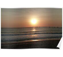 Bali beach sunset Poster