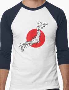 Origami Japan Men's Baseball ¾ T-Shirt