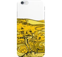 yellow wood iPhone Case/Skin