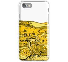 yellow wood iPhone Case/Skin