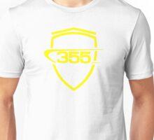 Ferrari 355 / Large Shield / Yellow Unisex T-Shirt