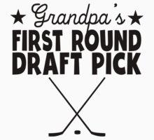 Grandpa's First Round Draft Pick Hockey Baby Tee
