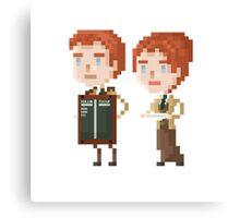 Pixel Lutece - Bioshock Infinite Canvas Print