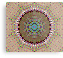 Unique Brown Blue Colorful Abstract Pattern Metal Print